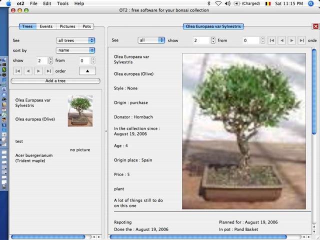 Software para administrar bonsái